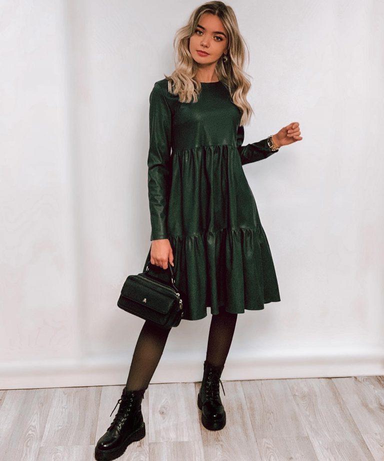 """Odinė suknelė """"Star"""", dark green"""