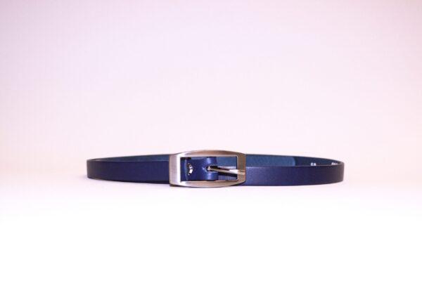 Natūralios odos diržas, 15 mm mėlynas