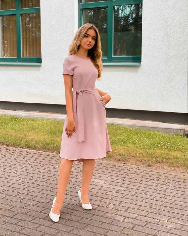 Elegantiška suknelė, rožinė