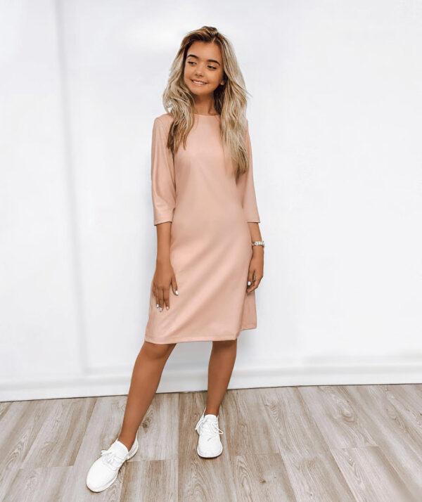 Odinė suknelė, rožinė