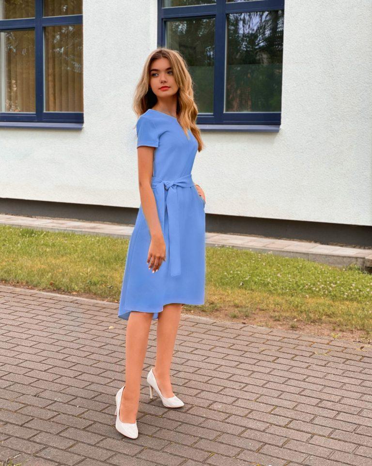 Elegantiška suknelė, žydra